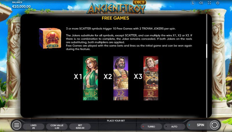 Ancient Troy Dice :: Free Game Rules