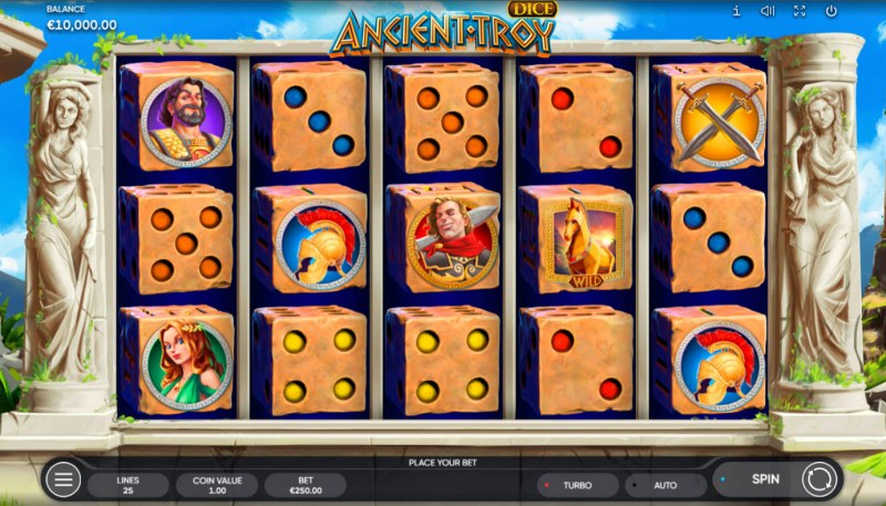 Ancient Troy Dice :: Base Game Screen