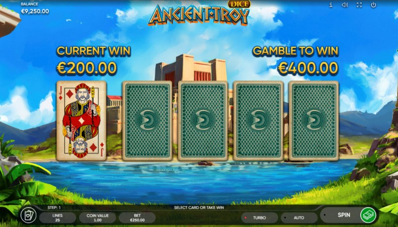 Ancient Troy Dice :: Red or Black Gamble Feature