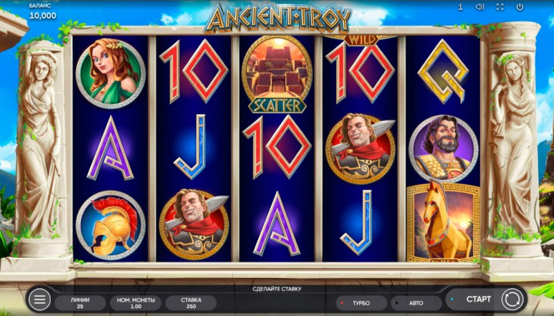 Ancient Troy :: Base Game Screen