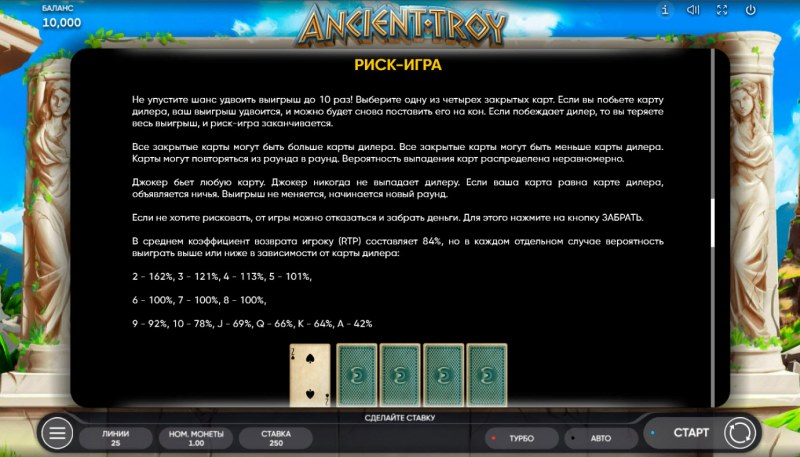 Ancient Troy :: Gamble feature