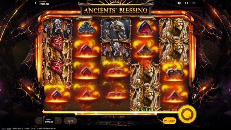 Ancients' Blessings :: Ancient Supermacy feature removes all low value symbols
