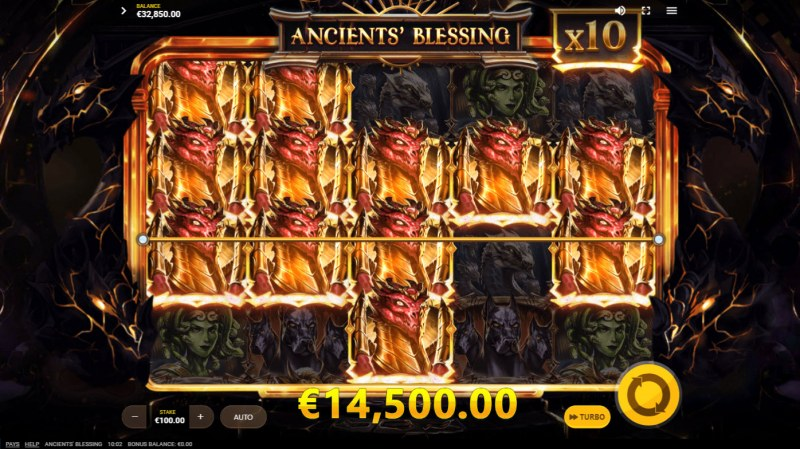 Ancients' Blessings :: Multiple winning paylines