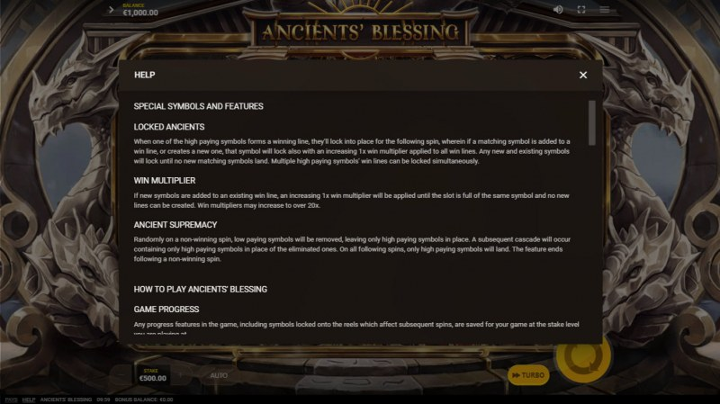 Ancients' Blessings :: General Game Rules