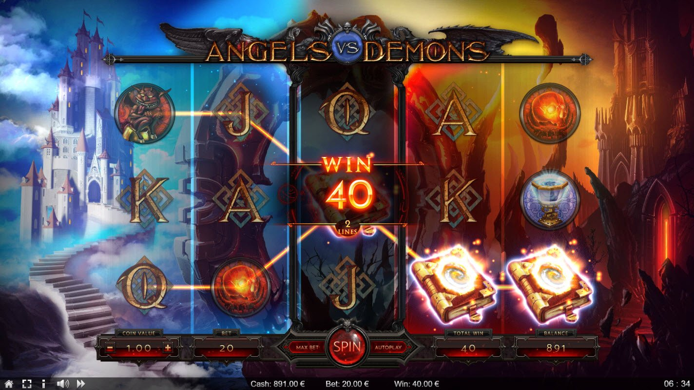 Angels vs Demons :: Game pays in both directions