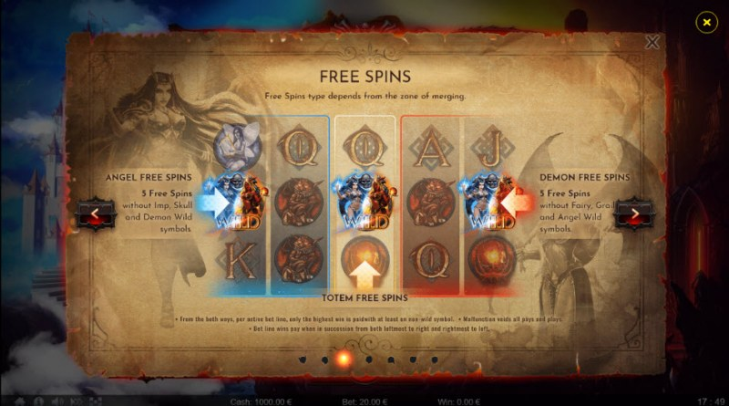 Angels vs Demons :: Free Spins Rules