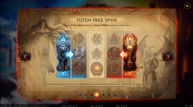 Angels vs Demons :: Totem Free Spins