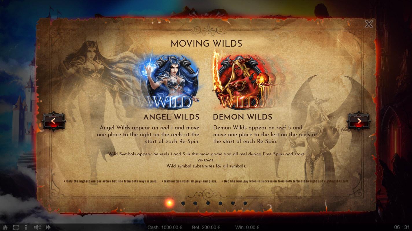 Angels vs Demons :: Wild Symbols Rules