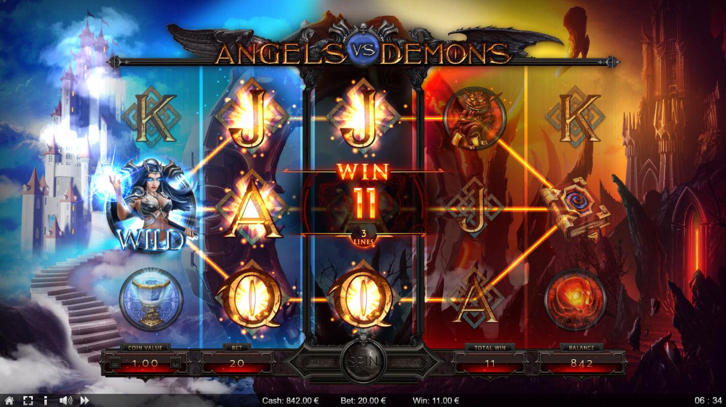 Angels vs Demons :: Multiple winning paylines