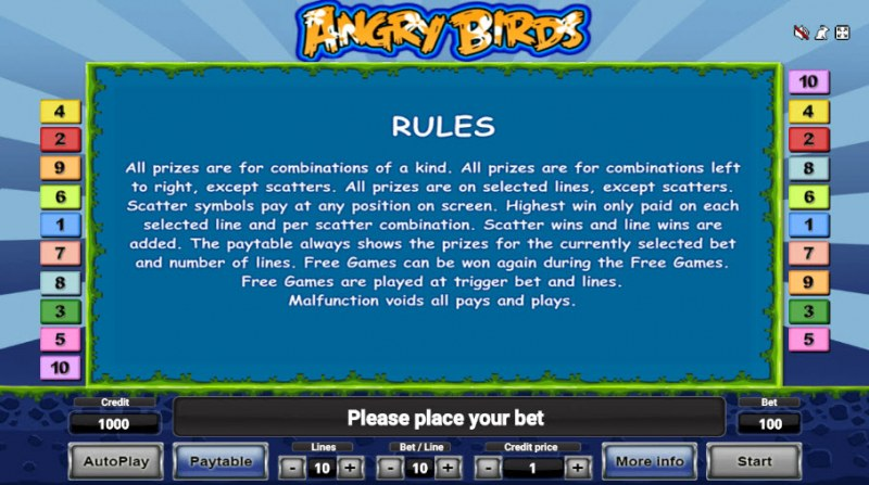 Angry Birds :: General Game Rules