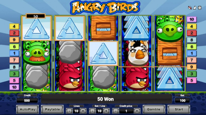 Angry Birds :: Three of a kind win
