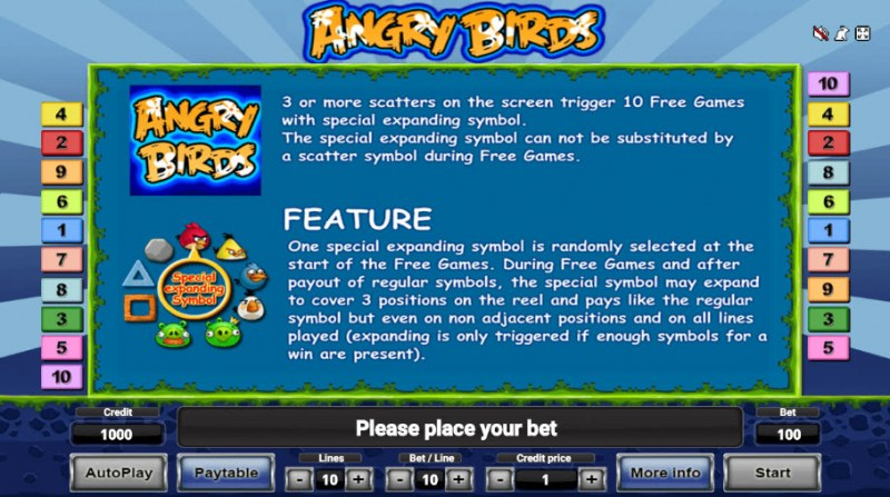 Angry Birds :: Feature Rules