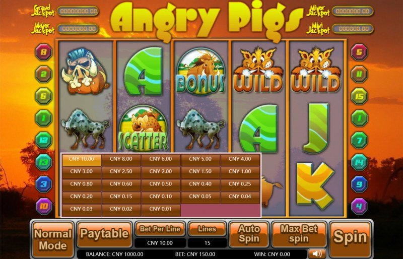 Angry Pigs :: Available Betting Options