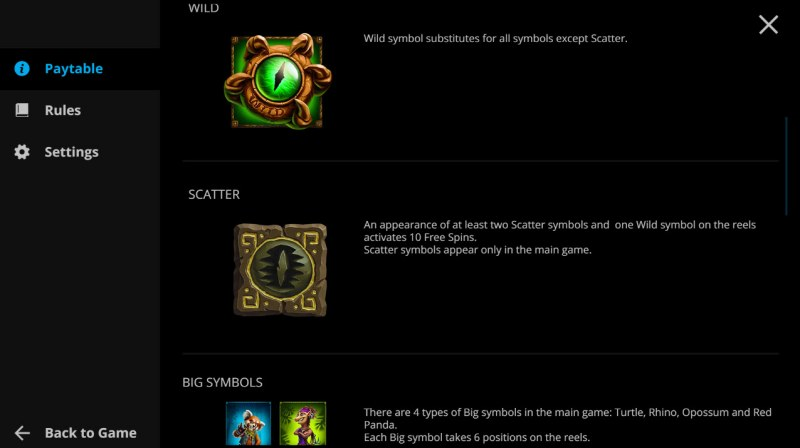 Animal Quest :: Wild and Scatter Rules