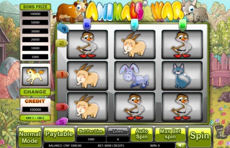 Animals' War :: Main Game Board