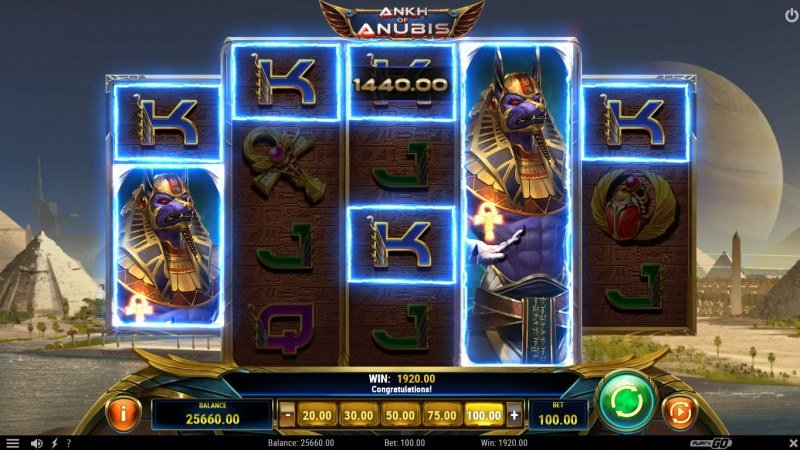 Ankh of Anubis :: Multiple winning combinations leads to a big win
