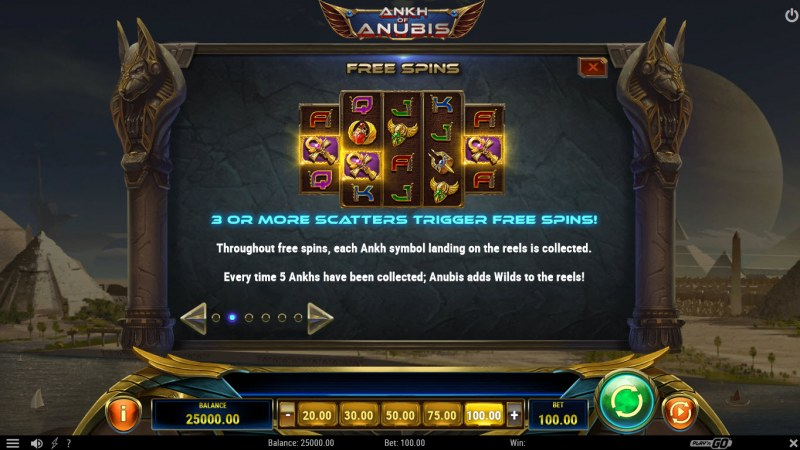 Ankh of Anubis :: Free Spins Rules