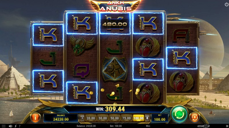 Ankh of Anubis :: Multiple winning combinations