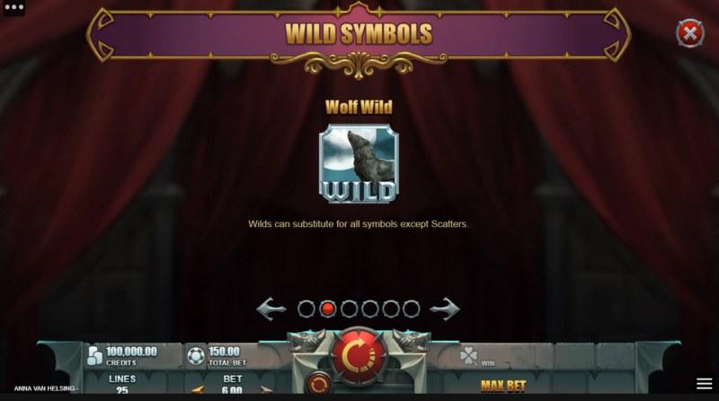 Anna Van Helsing Monster Huntress :: Wild Symbol Rules