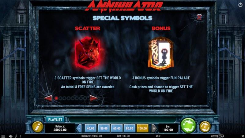 Annihilator :: Scatter and Bonus Symbols
