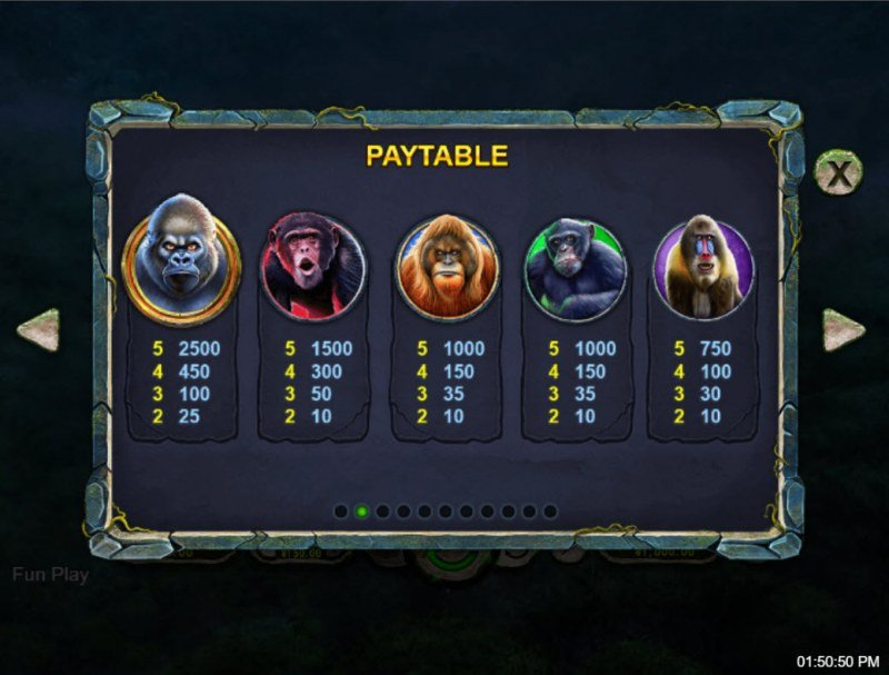 Ape King :: Paytable - High Value Symbols