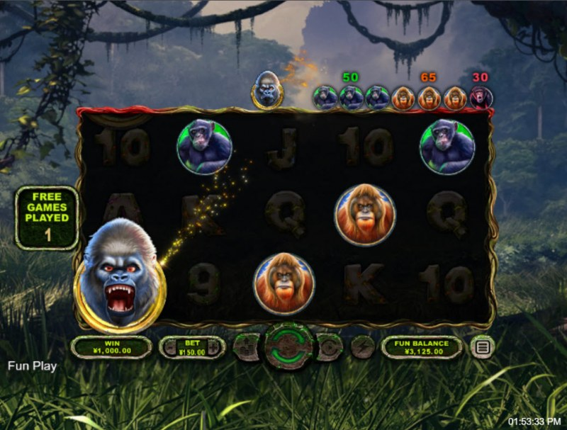 Ape King :: Free Spins Game Board