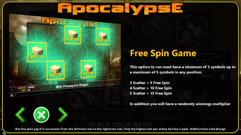 Apocalypse :: Free Spins Rules