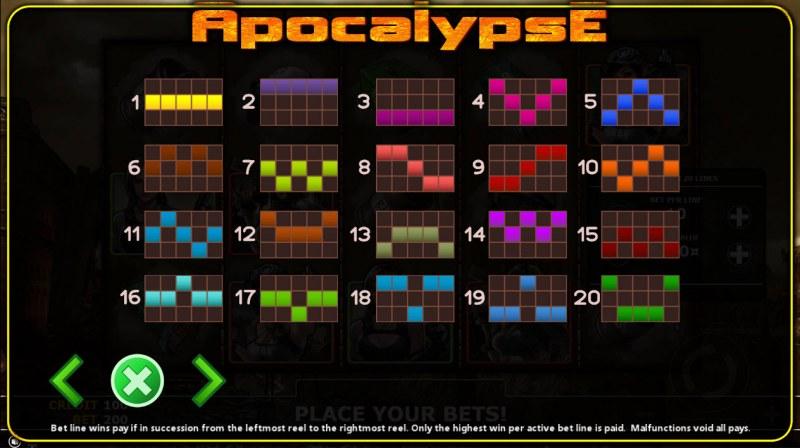 Apocalypse :: Paylines 1-20