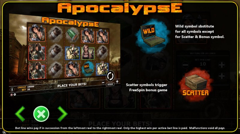 Apocalypse :: Wild and Scatter Rules