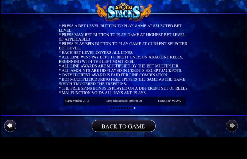 Apollo Stacks :: General Game Rules