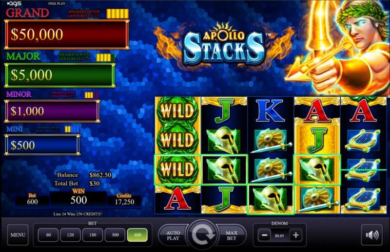 Apollo Stacks :: Multiple winning paylines
