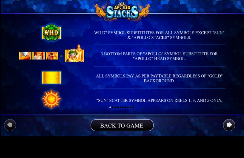 Apollo Stacks :: Wild and Scatter Rules