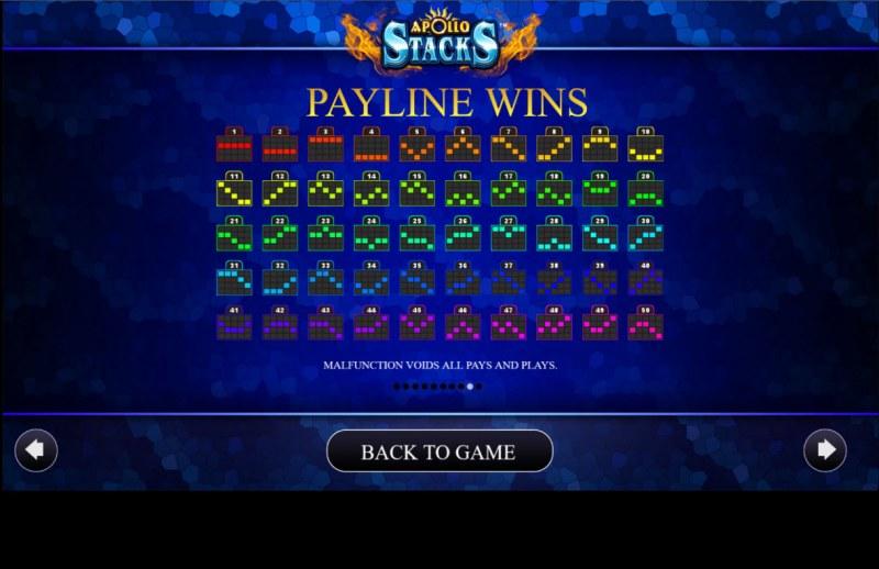 Apollo Stacks :: Paylines 1-50