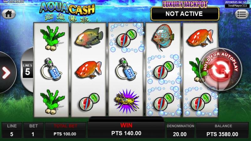 Aqua Cash :: Three of a kind