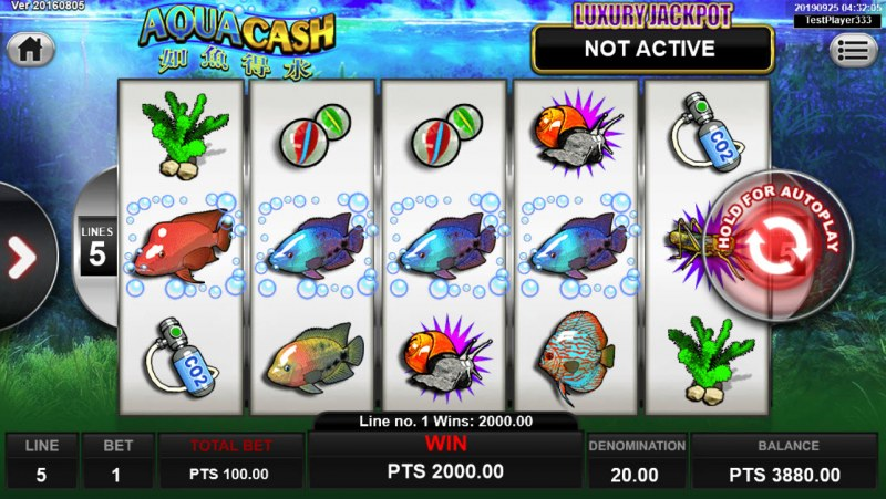 Aqua Cash :: Four of a kind