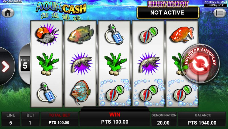 Aqua Cash :: Game pays in both directions