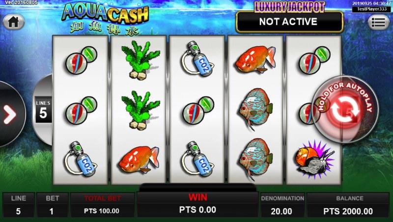 Aqua Cash :: Main Game Board