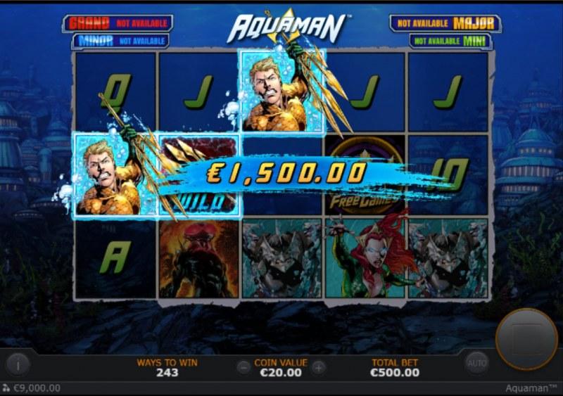 Aquaman :: A three of a kind win