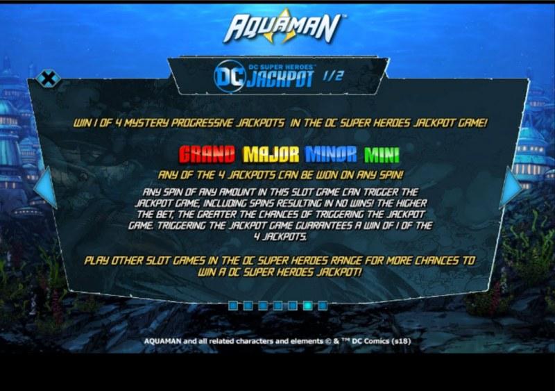 Aquaman :: Jackpot Rules