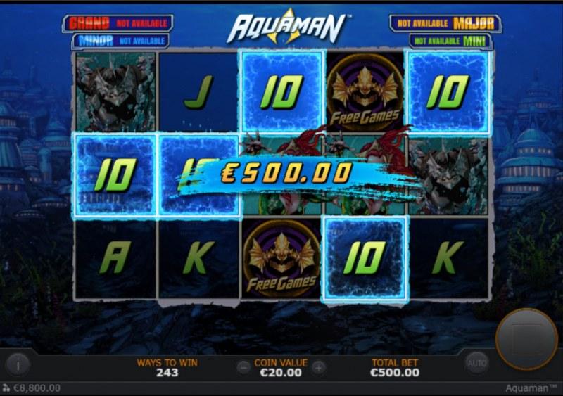 Aquaman :: A five of a kind win