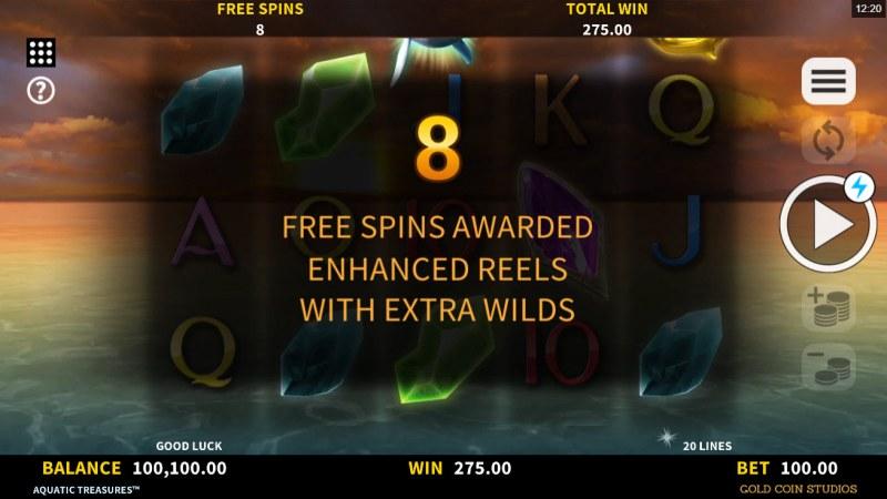 Aquatic Treasures :: 8 free spins awarded