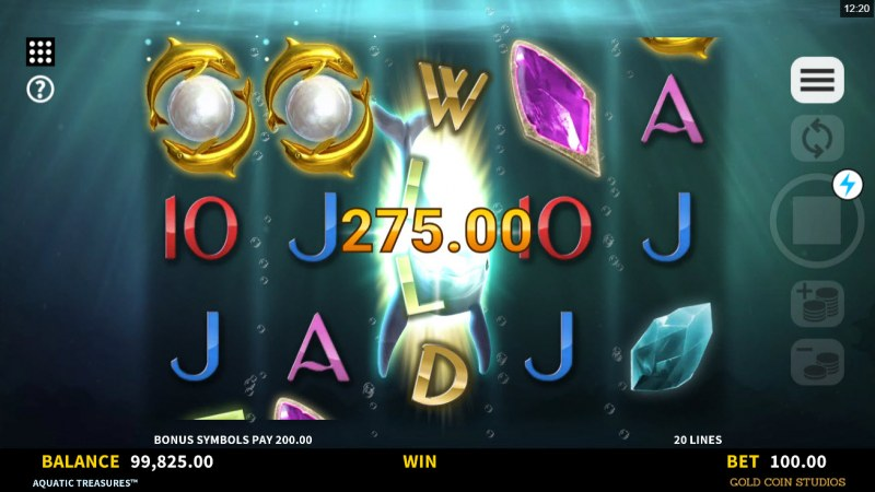 Aquatic Treasures :: Scatter Win