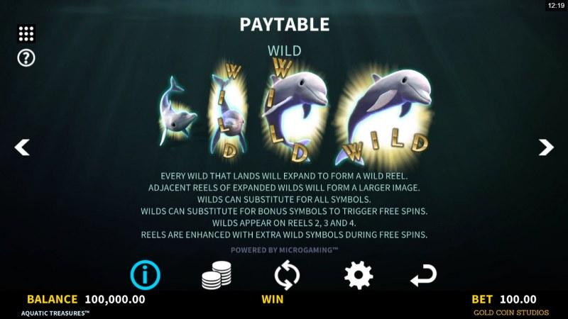 Aquatic Treasures :: Wild Symbol Rules