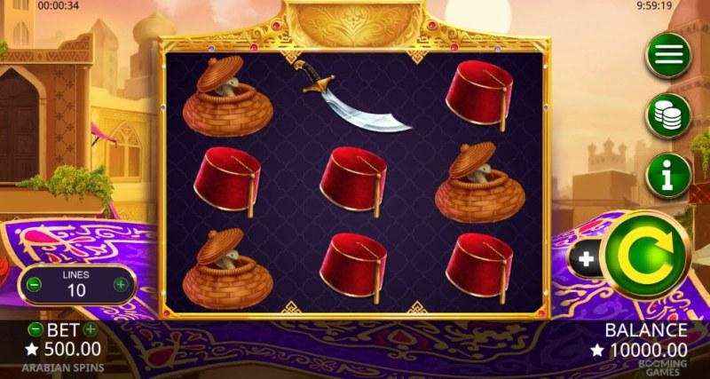 Arabian Spins :: Main Game Board