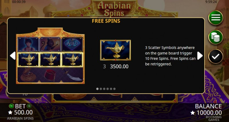 Arabian Spins :: Free Spins Rules