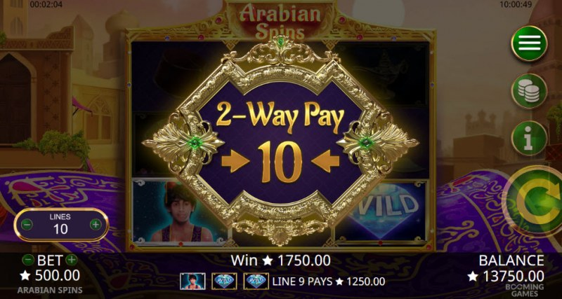 Arabian Spins :: 2-Way Pay activated for the next 10 spins