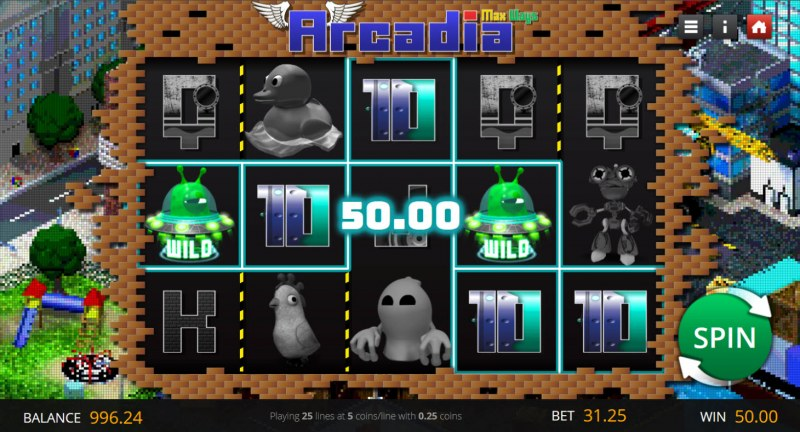 Arcadia Max Ways :: A five of a kind win