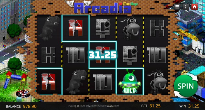 Arcadia Max Ways :: A four of a kind win