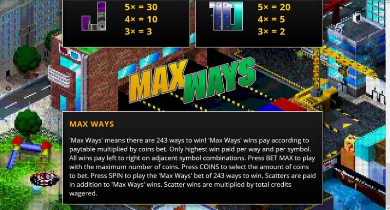 Arcadia Max Ways :: General Game Rules