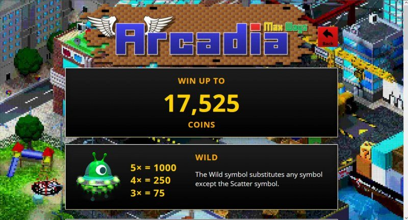 Arcadia Max Ways :: Win Up To 17,525 Coins
